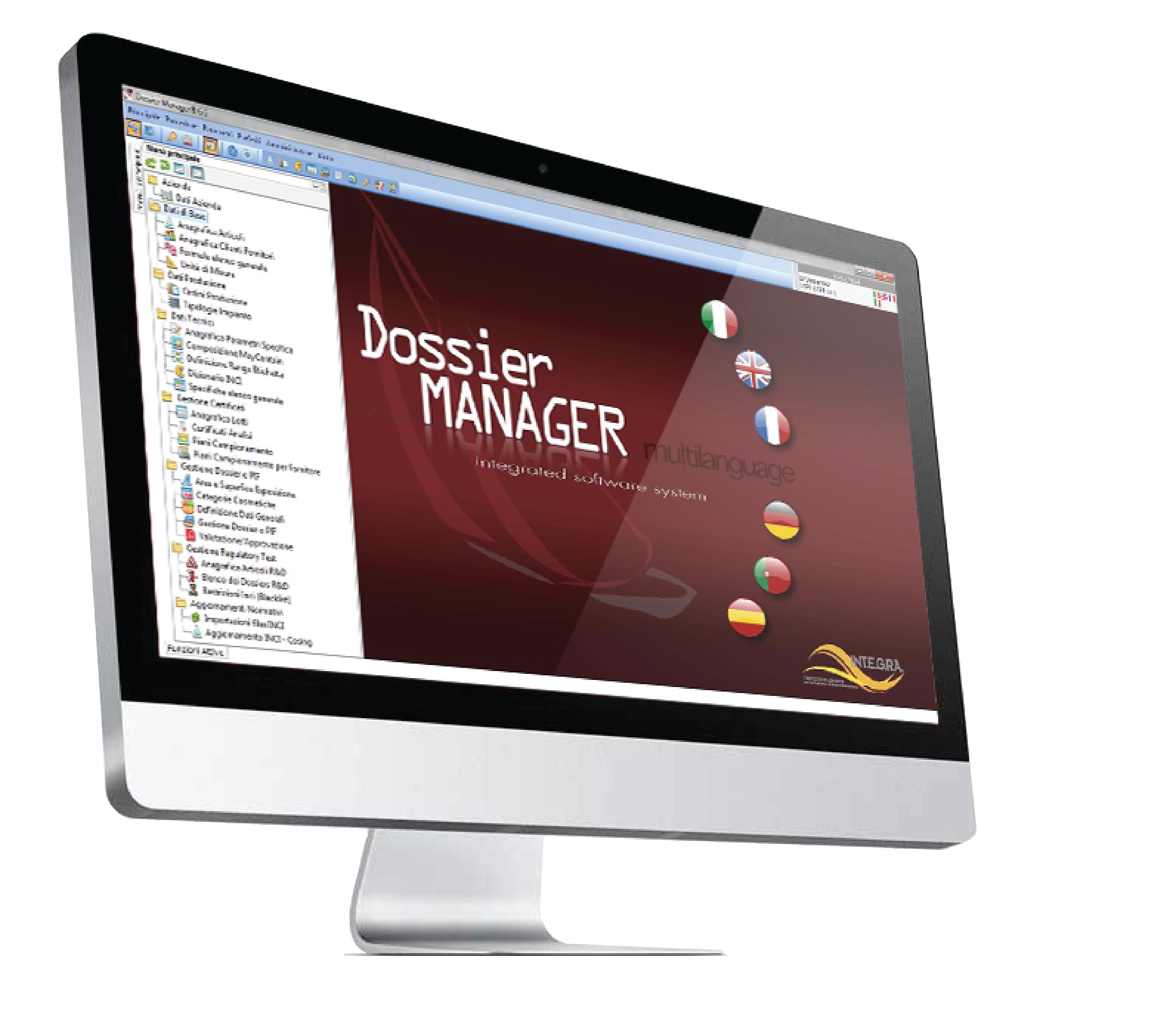 Display Dossier Manager in Schermo